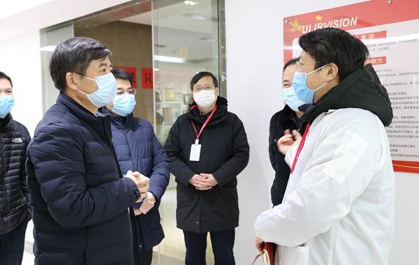 杭州市滨江区委书记王敏一行莅临红相科技参观交流