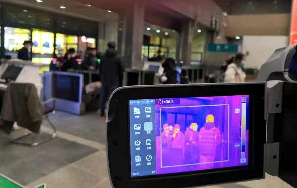 返程高峰 | 红相科技体温快速筛检仪(人体测温红外热像仪)布置在多处公共场所